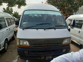 Toyota hiace 1996 ka model or registration 2001 h gari m koi kam nhi h