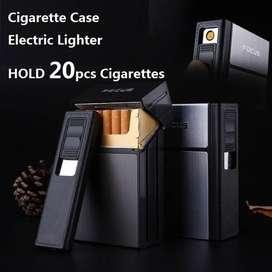 Kotak Rokok 20 Slot dengan Korek Elektrik Removable