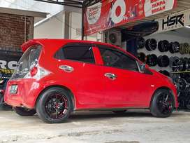 hsr velg racing R15x65 pcd 4x100 smb/red
