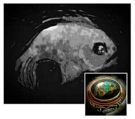 Cincin batu pirus gambar ikan