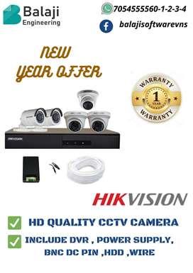 HIKVISION 5 set CCTV camera
