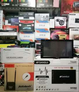 Plus Pasang,TV SANSUI MP4,Konek Stir,Tochscreen full HD+Camera+Antena