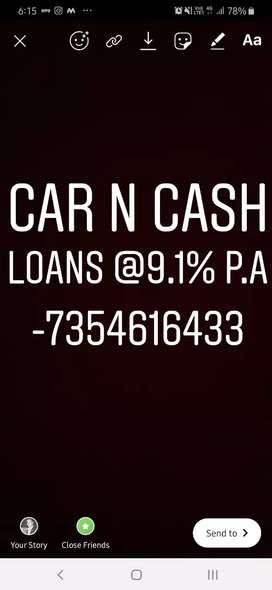 Used car purchase car loan @9.1 %