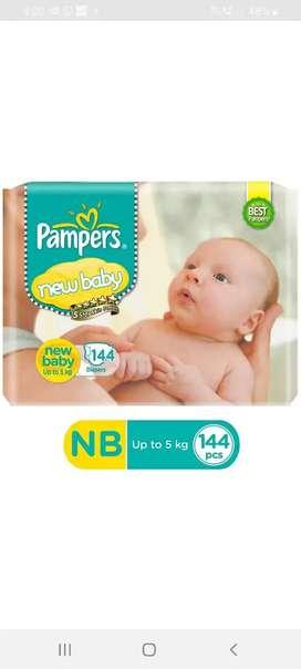 Pampers newborn (NB) 144 pcs diaper