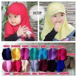 Jelbab topi anak size 0-2th