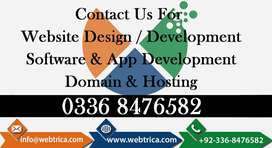Mobile & Web APPs Development, Website Designing, Domain & Hosting