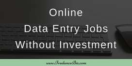 Part time/ Full time work- Data entry/Online Typing /Form Filling job