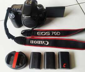 DSLR Canon 70D,Kondisi bagus,mulus, normal, lengkap