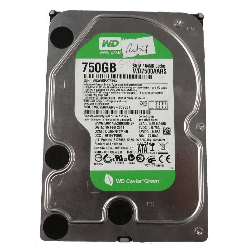WD 750gb in good condition