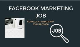 FACEBOOK MARKETING JOB AVAILABLE HERE