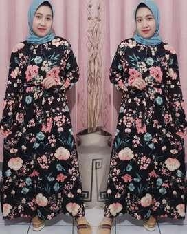 Dress nagita warna hitam