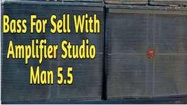 DJ Dual Bass With 5.5 Amplifier Studioman DJ Bass
