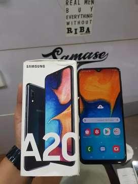 Samsung A20 3/32GB Black, Original, Lengkap Ori, Fisik 98%, Normal