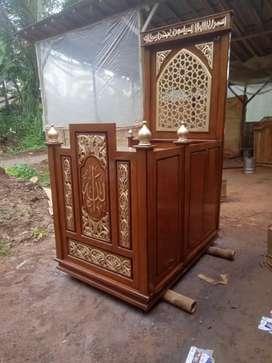 Mimbar masjid kutbah kayu jati mimbar terlaris