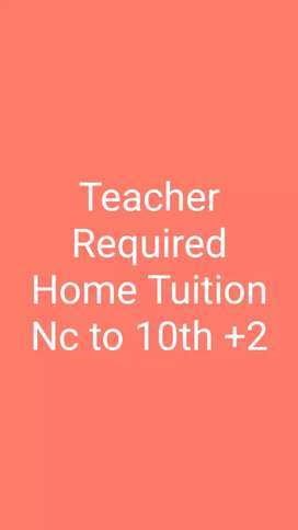 Teacher Required for home Tuition in Patna