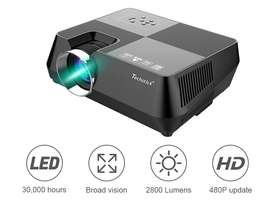 Techstick 2800 Lumens LCD Video Projector, Portable Hd Projector