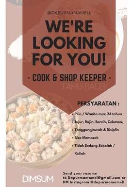 Cook & shop keeper