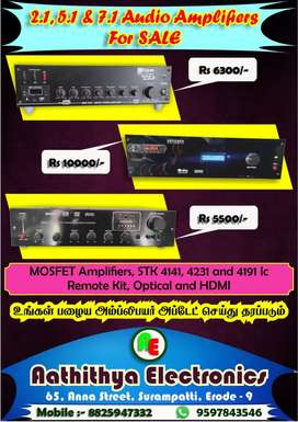 All type of audio amplifiers done here