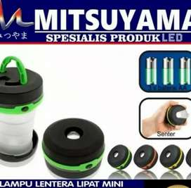 Lampu lentera + senter camping mini Free battery