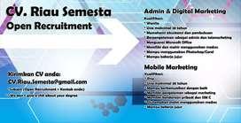 Open Recruitment CV. Riau Semesta