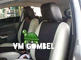 Minggu VM buka srg jok Ford Fiesta 2 warna semi kulit jahitan dobel