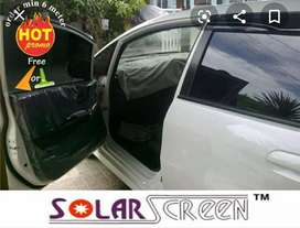 Kaca film solar screen full hitam pekat garansi 5tahun