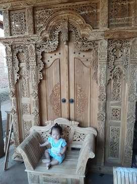 FREE ONGKIR COD Pintu Gebyok Gapura Jendela Motif Style Bali Jawa rofi