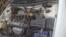 Toyota XE Model 1997 white colour automatic 16 valve Engine with CNG