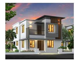 3bhk with 4.25 cent land