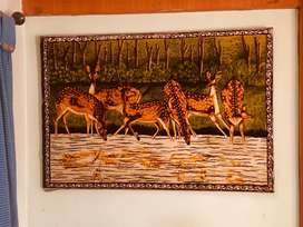Velvet material with wooden frame , Rajesthani painting ,