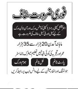 Online job for males and females