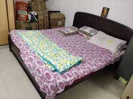 King Size cot with mattress