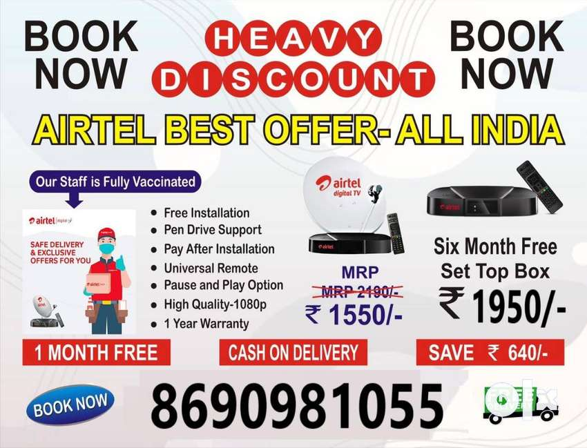 Airtel dth New offers TATA SKY Settop box SD/HD New connection dish