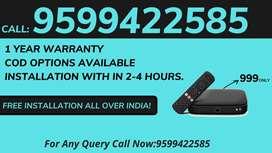 Tata Sky Hd Box New Connection Dth ! Airtel Dth ! Dish Tv!Videocon D2h