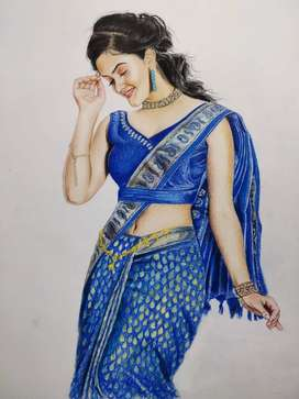 All types of art work good quality pencil sketch, colour paintings