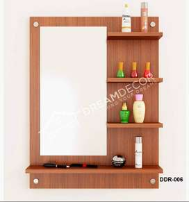 Bedroom Dresser/Wall Mount Dressing Table with Mirror