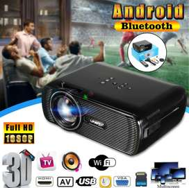 UHAPPY U80 Plus Android 6.0 LCD Projector with Bluetooth Wi-Fi