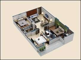 3 BHK apartment in Mansarovar