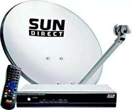 Sun Direct SD TV Antenna, SetTop Box Remote