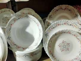 Marble  chini Dinner set of 8 person