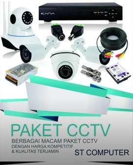 Paket CCTV Lenkap 4 Kamera 2mp + Pasang