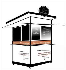 Indah booth semi container krian