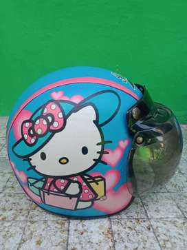 Helm Anak Model Bogo Hello Kitty
