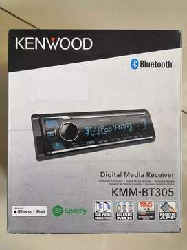 New Head Unit KENWOOD KMMBT305 BLUETOOTH SPOTIFY REMOTE IPHONE ANDROID