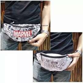 Tas Punggung Waistbag Marvel Original