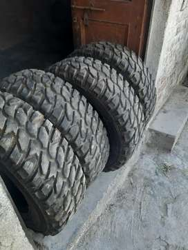 Tyres for jeep/thar. Only genuine buyers must contact.