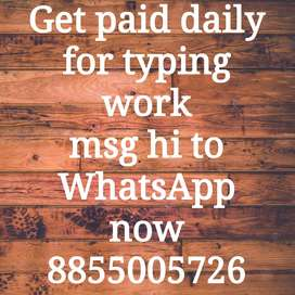 Data entry with daily salary home based with regular work