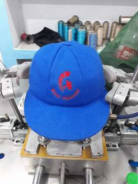 green Baggy and english cricket cap with customize logo