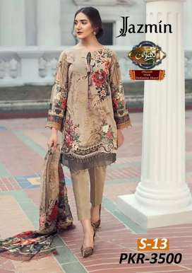 Latest Lawn Full 3pc Embroidered Suit New summer Collection 2020