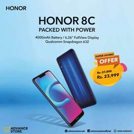 HONOR 8C brand new box pack under 1 year warranty